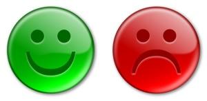 Happy & Sad Emoticon Buttons